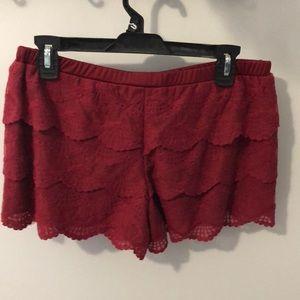 Rebellious One Shorts - Maroon Shorts